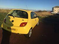 FORD KA. 2008. LOW MILAGE. BRIGHT UELLOW