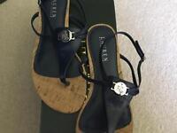 RALPH Lauren genuine ladies sandals - Navy leather