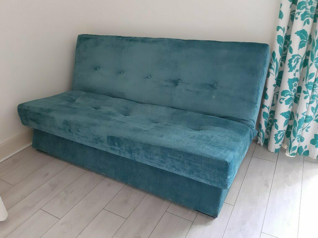 Astounding Perth Double Sofa Bed With Storage Teal Blue In Kirkintilloch Glasgow Gumtree Creativecarmelina Interior Chair Design Creativecarmelinacom