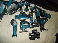 makita 18v cordless tools set