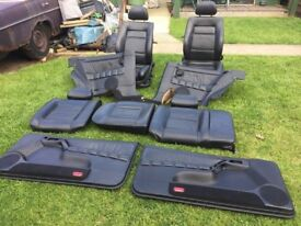 mk3 leather seats including door cards