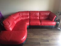 Red sofa for sale in perfect condition!