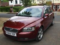 Volvo V50 Sportswagon. 1.8 litre petrol with full year's MOT. Heated leather seats and tow bar.