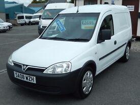 08/08 Vauxhall Combo 1.3CDTi Van, White. **No VAT**