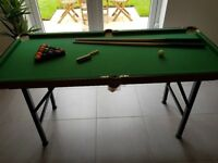 Pool table - can collapse for easy storage