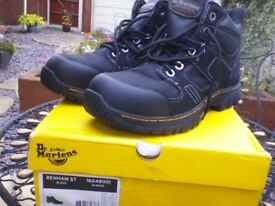 Dr martens,benham st black work boots size 10 uk