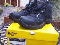 Dr martens,benham st black work boots size 10 uk