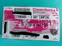 Creamfields 3 days camping ticket