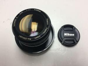 Nikon Nikkor-S Auto 55mm f1.2 lens AIS mount manual focus with 90 days warranty