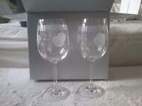 X6 Rennie MacKintosh Rose Wine Glasses BNIB