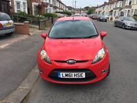 2011 Ford Fiesta Manual Petrol 1.25 Edge 3dr Hatchback Red ++ Low Insurance Band ++