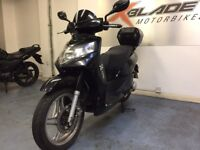 ZNEN 125cc Automatic Scooter, Black, Back Box, Alarm, Some Panel Damage, Part ex to Clear