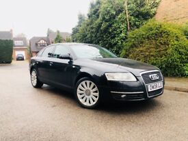 2008/58REG AUDI A6 DIESEL + FULL BLACK LEATHER - FRONT HEATED SEATS - SAT NAV