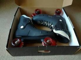 Raptor 2 quad roller skates size 12, boxed