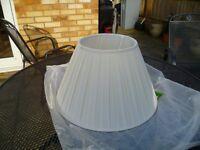 Large cream lamp shade