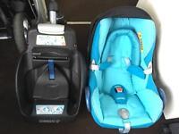Maxi cosi car seat and easifix base