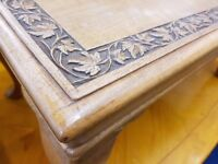 Ornate Carved Coffee Table with Cabriole Legs