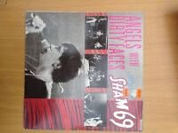 Sham 69, Angels with Dirty Faces, original vinyl, rare misprint label, £50