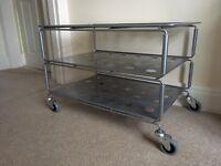 Ikea Metallic Media / TV stand on wheels