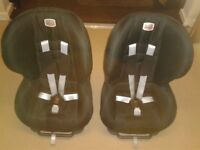 2 x Britax child front facing car seats