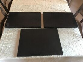 2 large solid granite table place mats + 1 solid granite cutting board
