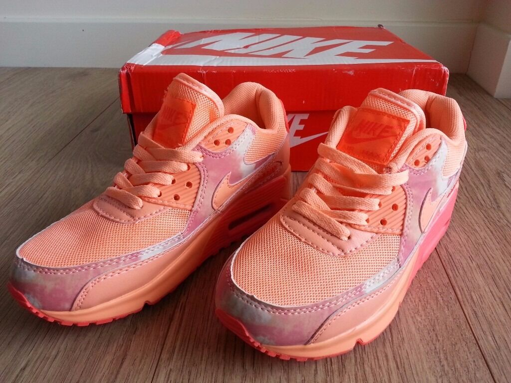 d39193bdd5 Nike Air Max 90 Kids Trainers Shoes UK Size 3 EU 36 US 5.5 Used, £25