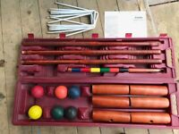 Garden croquet set with instructions