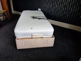 Electric folding memory foam mattress bed