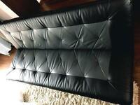 Up to 4 seater sofa bed faux leather perfect like new