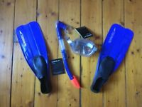 Speedo Snorkel and Flipper Set