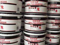 Non slip wall tile adhesive