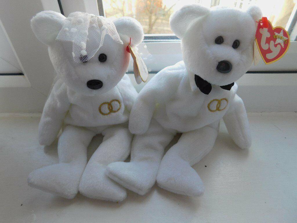 cc06ad79830 Ty Wedding Bears Mr   Mrs Beanie Baby Bears