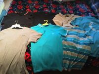31 T/shirts, polo & shirts mostly small & med. Mainly designer, LYLE & SCOTT, FRED PERRY, RALPH L