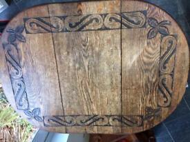 Oak Drop Leaf Dinning Table