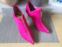 Ted Baker Millaed Bright Pink Ankle Boots ZIP FRONT SIZE 36 £150 RRP