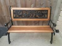 Refurbished kids cast iron bench