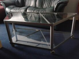 Glass and Metal Lower Table