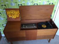 Vintage retro radiogram sideboard tv stand record player
