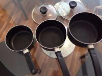 Tefal 3 cooking pots set £5