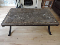 Stunning Solid Marble & wrought iron coffee table