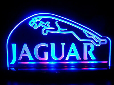 Multi-color Acrylic Jaguar Car Led Light Table Lamp Man Cave Room Garage Signs