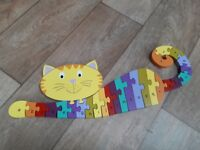Wooden cat alphabet jigsaw for age 1+