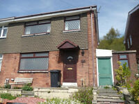 3 bedroom SEMI-DETACHED part furnished HOUSE in BATLEY, front and rear garden, close to schools
