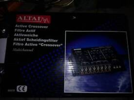 Active crossover for in car audio
