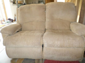 Sofa, 2 seater with recliner