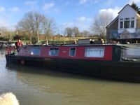 42 ft cruiser Stern project Narrowboat liveaboard Houseboat