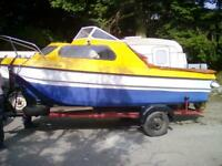 Pilot 460 Cabin Cruiser Boat and Trailer
