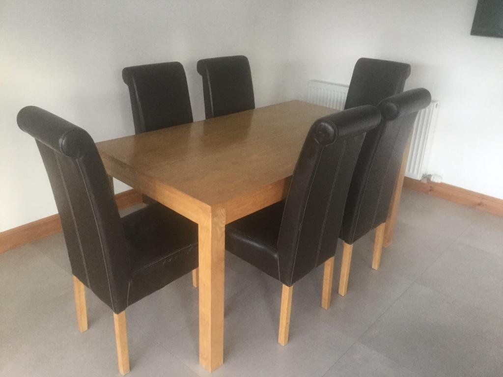 Matching Dining Room Table X 6 Chairs 2 Side Tables Coffee For