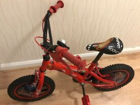 "Disney Cars kids 14"" Bike"