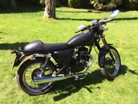 125 Motorbike, custom matt black, learner legal, cafe racer style, 2015